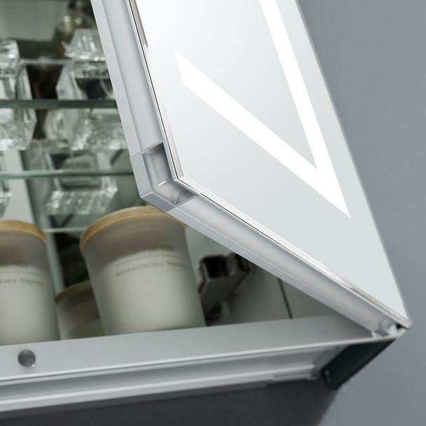 """Fresca Spazio 48"""" Wide X 30"""" Tall Bathroom Medicine Cabinet W/ Led Lighting & Defogger - FMC024830"""