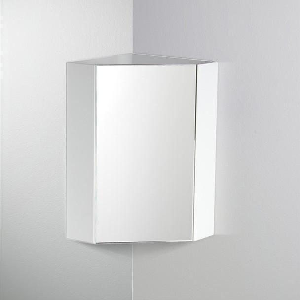 "Fresca Coda 14"" White Corner Medicine Cabinet W/ Mirror Door - FMC5082WH"