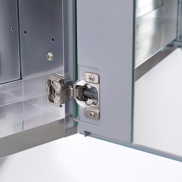 """Fresca 40"""" Wide X 36"""" Tall Bathroom Medicine Cabinet W/ Mirrors - FMC8011"""