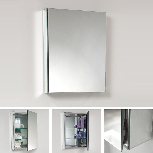 """Fresca 20"""" Wide X 26"""" Tall Bathroom Medicine Cabinet W/ Mirrors - FMC8058"""