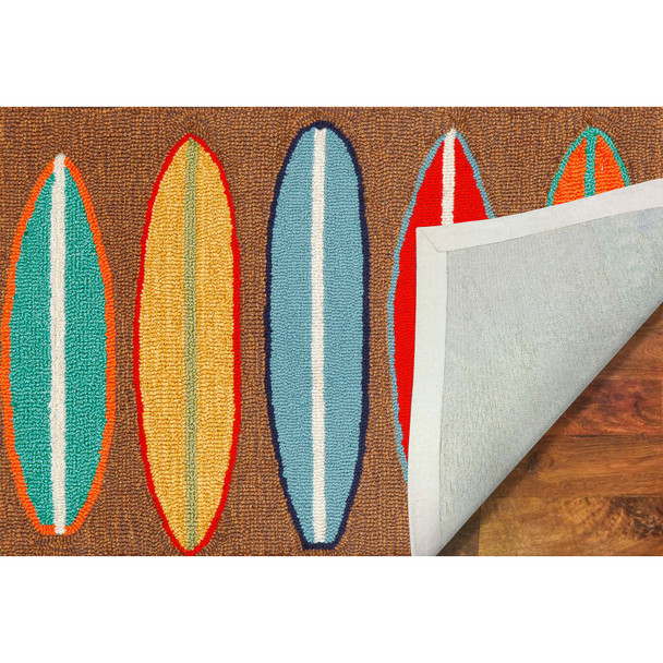 Liora Manne Frontporch 1406/19 Surfboards Brown Hand Tufted Area Rugs