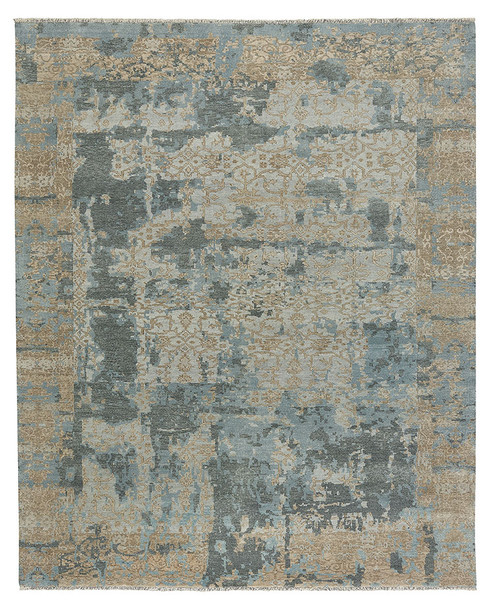 Capel Ellerbe Tan Blue 1095_775 Hand Knotted Rugs
