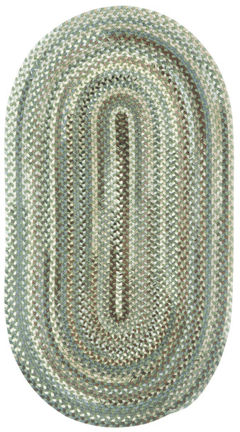 Capel Sherwood Forest Green Olive 0980_250 Braided Rugs