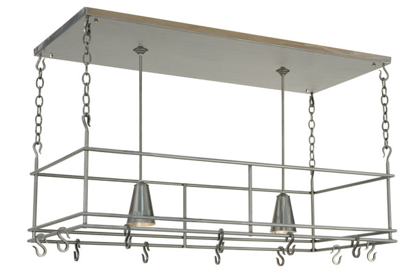 "Meyda 48""l Spartan Pot Rack - 121711"
