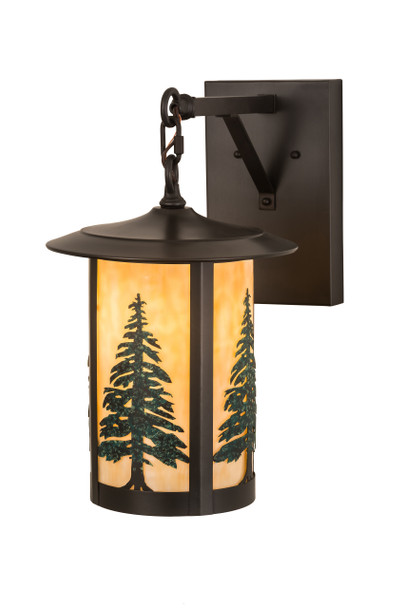 """Meyda 10""""w Fulton Tall Pines Hanging Wall Sconce - 186808"""