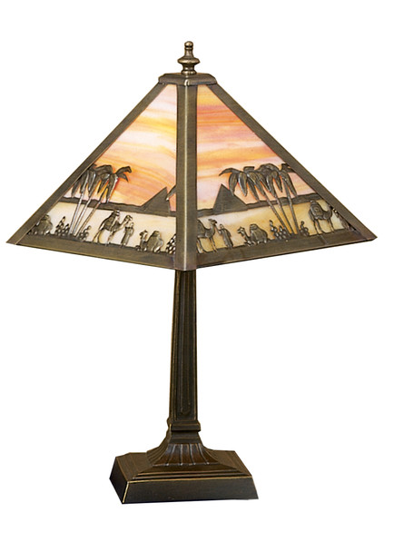 "Meyda 10""h Camel Mission Accent Lamp - 26843"
