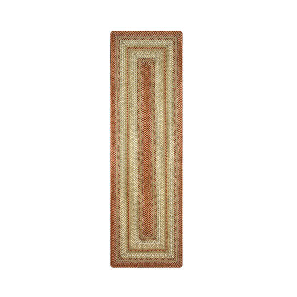 Homespice Decor Winter Wheat Green Braided Area Rugs