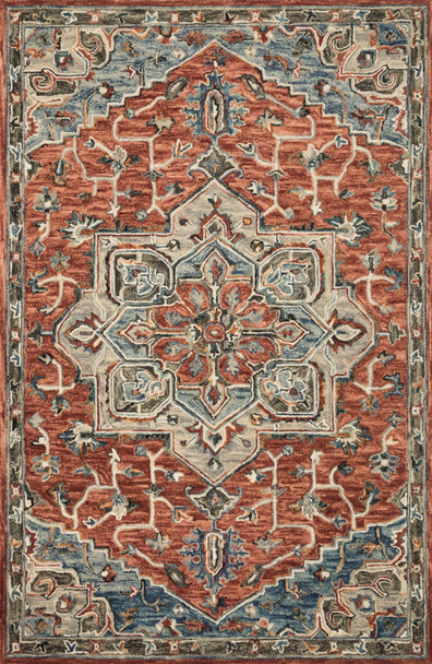 Loloi Victoria Vk-15 Red / Multi Hooked Area Rugs