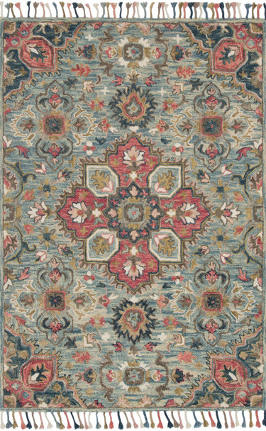 Loloi Zharah Zr-13 Light Blue / Multi Hooked Area Rugs