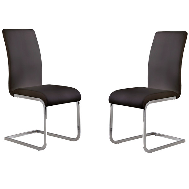 Armen Living Amanda Black Side Chair - Set Of 2