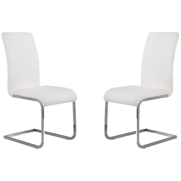 Armen Living Amanda White Side Chair - Set Of 2