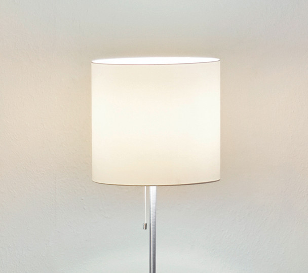 Eglo 1x100w Floor Lamp W/ Aluminum Finish & Cream Fabric Shade - 82813A