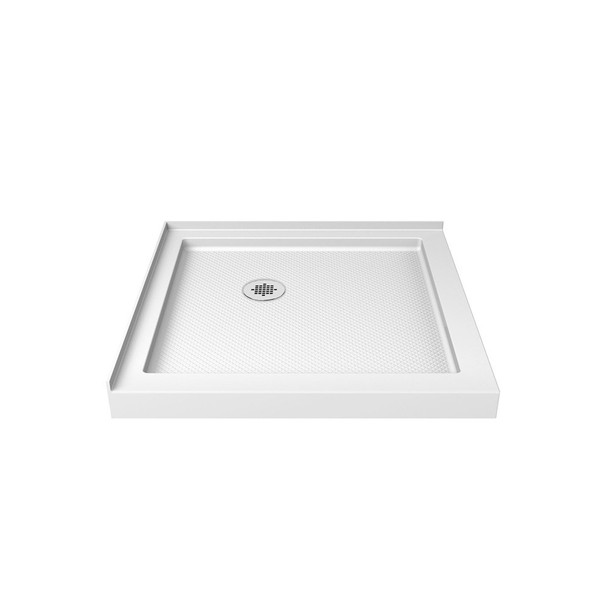 Dreamline Slimline 42 In. D X 42 In. W X 2 3/4 In. H Double Threshold Shower Base - DLT-1042420