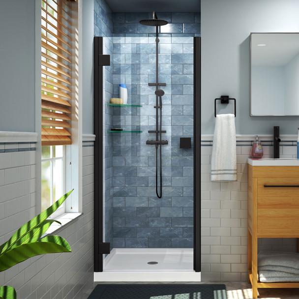 Dreamline Lumen 34-35 In. W By 72 In. H Semi-frameless Hinged Shower Door - SHDR-5334720