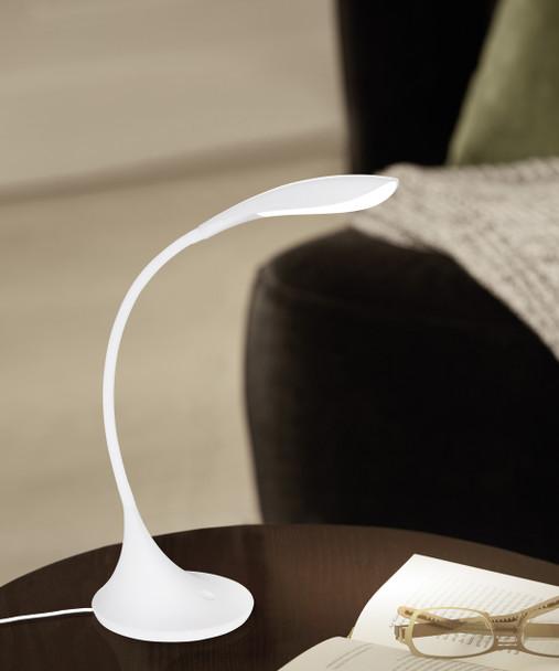 Eglo 1x4.5w Led Desk Lamp W/ White Finish - 94674A