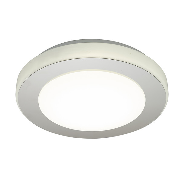 Eglo 1x13w Led Ceiling Light W/ Chrome And White Finish - 95282A