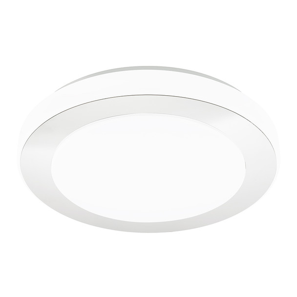 Eglo 1x23w Led Ceiling Light W/ Chrome And White Finish - 95283A
