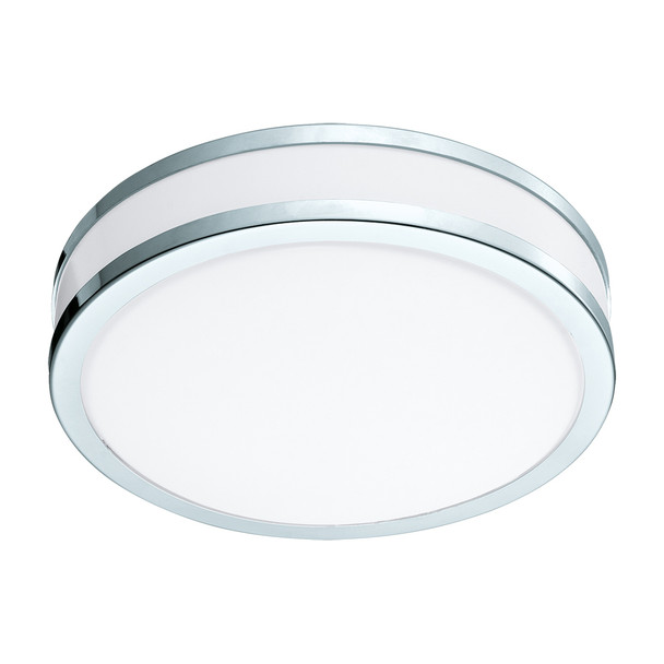 Eglo 1x13w Led Ceiling Light W/ Chrome And White Finish - 95682A