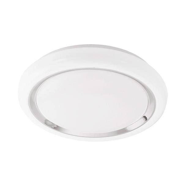 Eglo 1x13w Led Ceiling Light W/ Chrome & White Finish & Plastic White Bulb Cover - 96023A
