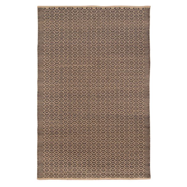 Amer Rugs Zola ZOL-6 Charcoal Black Flat-weave Area Rugs