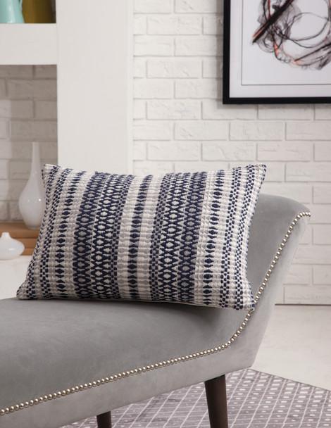 Abacasa Blake 6909 Hand Made Navy, Grey, White Pillows