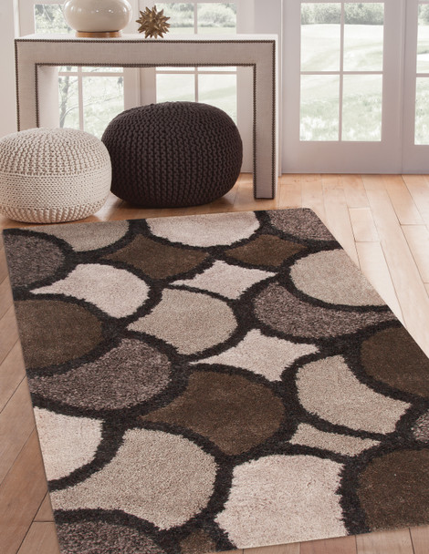 Abacasa Lifestyle 9869 Hand Tufted Charcoal, Light Grey, Brown Area Rugs