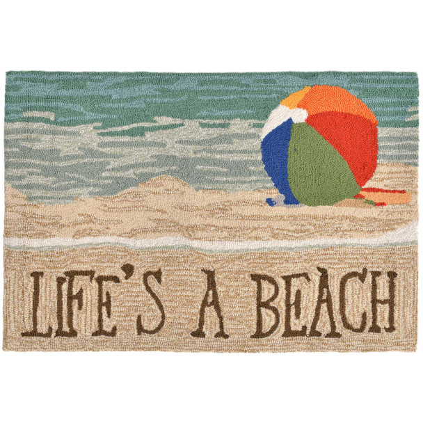 Liora Manne Frontporch 1516/12 Life's A Beach Sand Hand Tufted Area Rugs