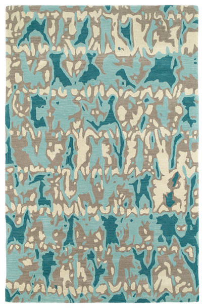 Kaleen Pastiche Hand Tufted Pas05-61 Robin's Egg Area Rugs