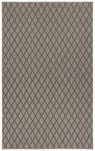 Mercer Street Sundial Collection Flat-Weave Heather Grey Area Rugs