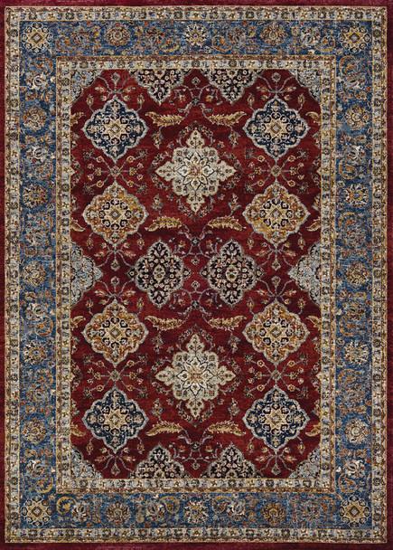 Couristan Monarch Yamut Bordeaux/slate Indoor Area Rugs