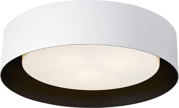 Bromi Design B4106B Lynch White & Black Flush Mount Ceiling Light
