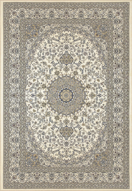 Dynamic Ancient Garden Machine-made 57119 Ivory Area Rugs