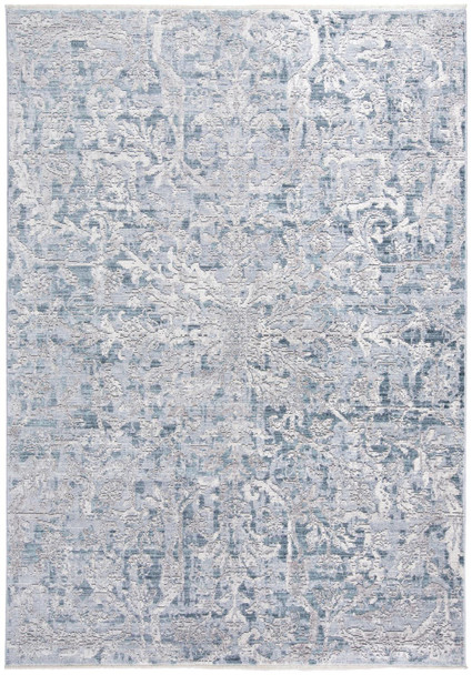 Feizy 3574FATL Cecily Machine Made Teal / Gray Area Rugs