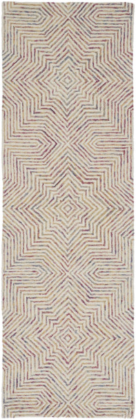 Feizy R8046IVY Isla Hand Tufted Ivory / Gold Area Rugs