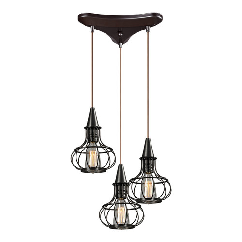Elk Lighting Yardley: ELK Lighting Yardley 3-Light Mini Pendant