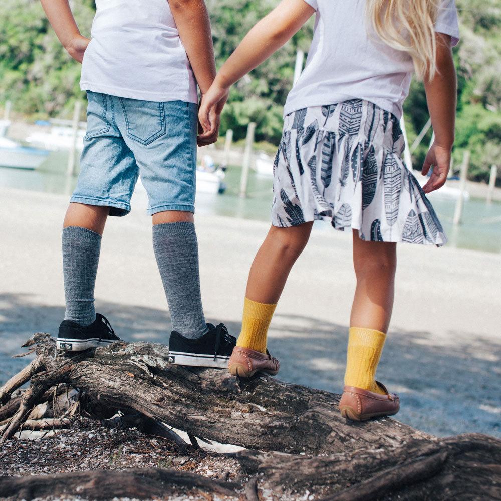 Lamington - Kids Knee-high Merino Socks - Rib