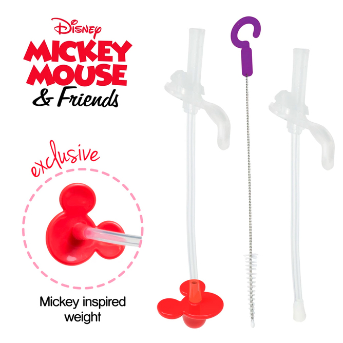 Disney Sippy Cup - Replacement Straws & Cleaner - Mickey