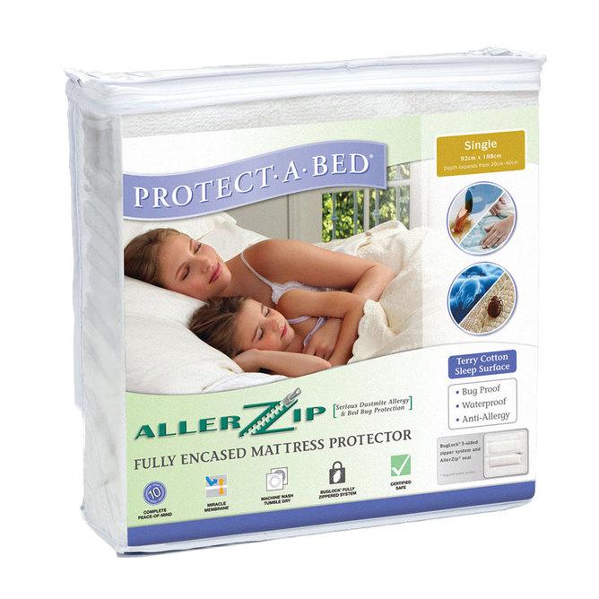Allerzip Encased Mattress Protector (Terry Cloth)