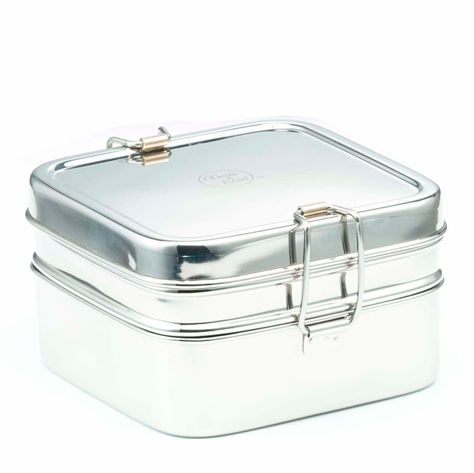 Stainless Steel 2-layer Square Lunchbox