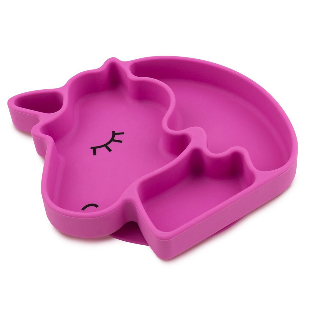 Silicone Grip Dish - Unicorn