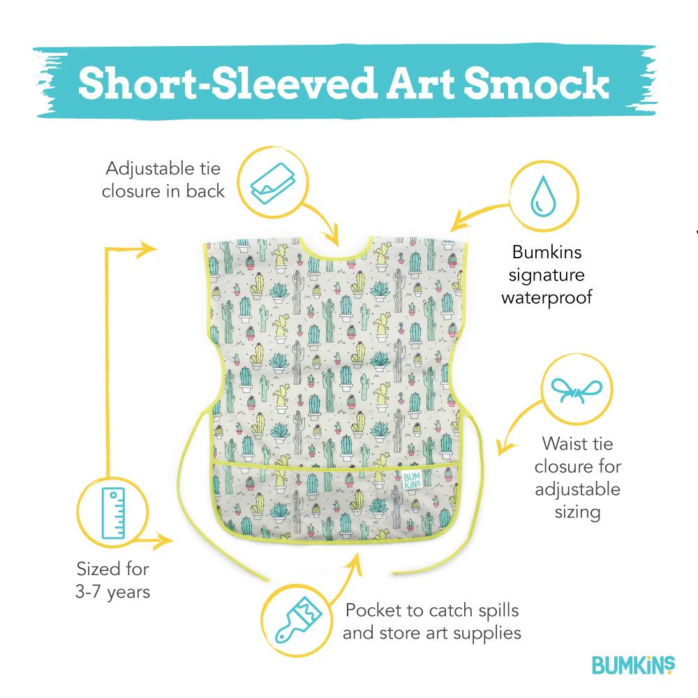 Short-sleeved Smock Bib