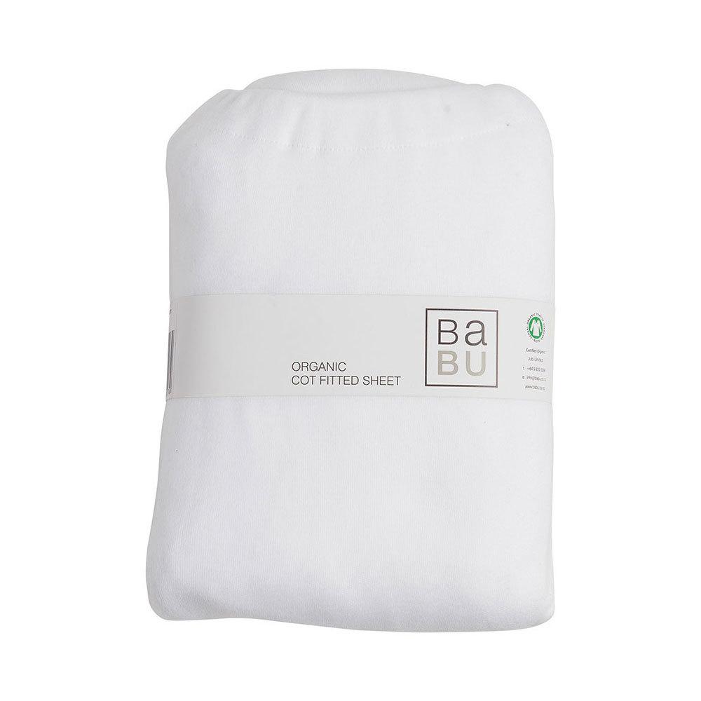 Babu Organic Jersey Fitted Sheet