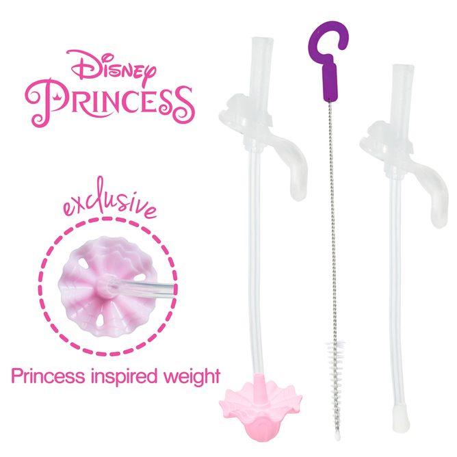 Disney Sippy Cup - Replacement Straws & Cleaner - Princess