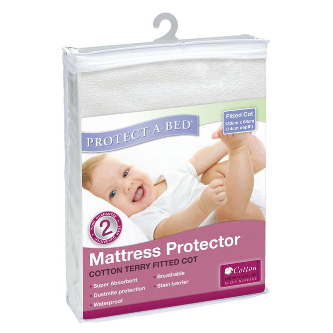 Terry Cotton Cot Mattress Protector