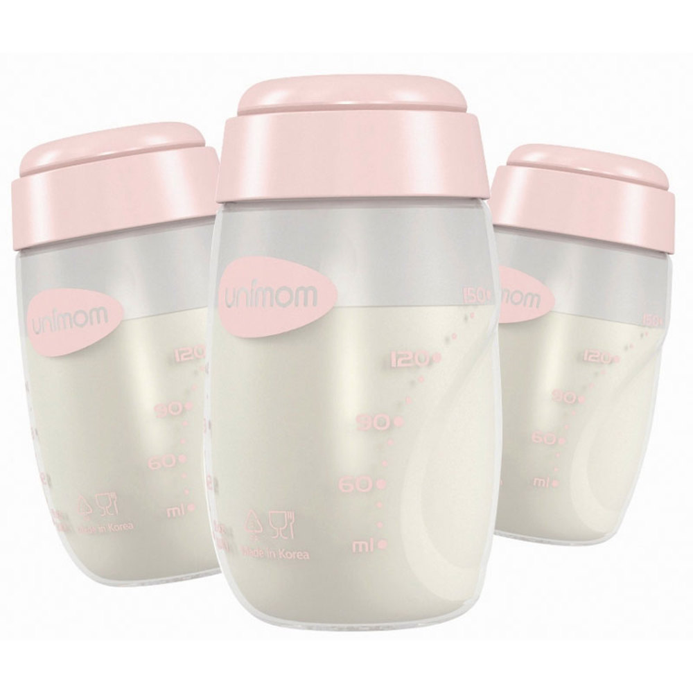 Unimom Breast Milk Storage Bottle 3 pack - Pink