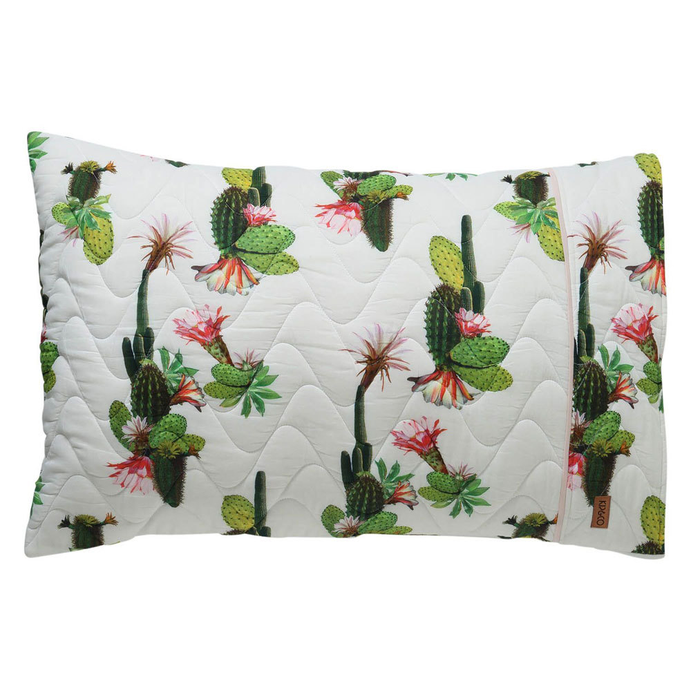 Single Quilted Pillowcase - Cactus Cove