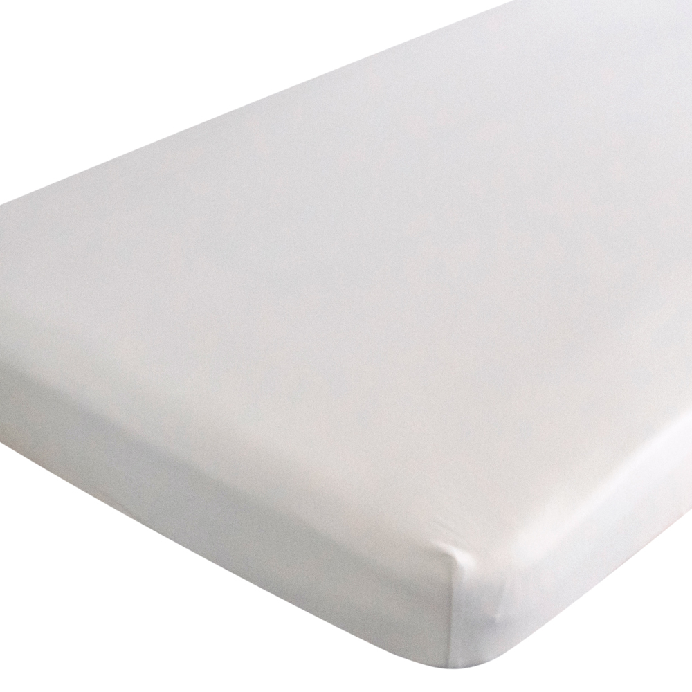 Organic Jersey Fitted Sheet - White