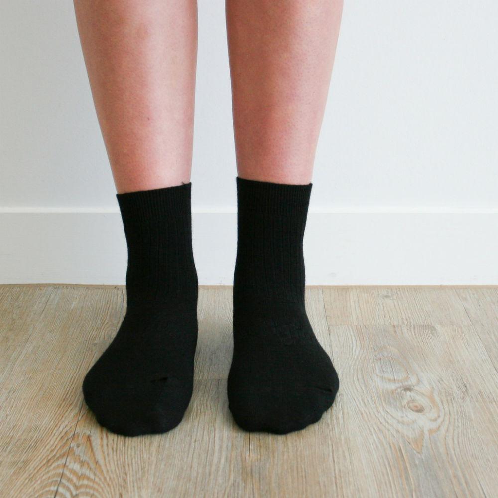 Womens Crew Merino Socks - Rib