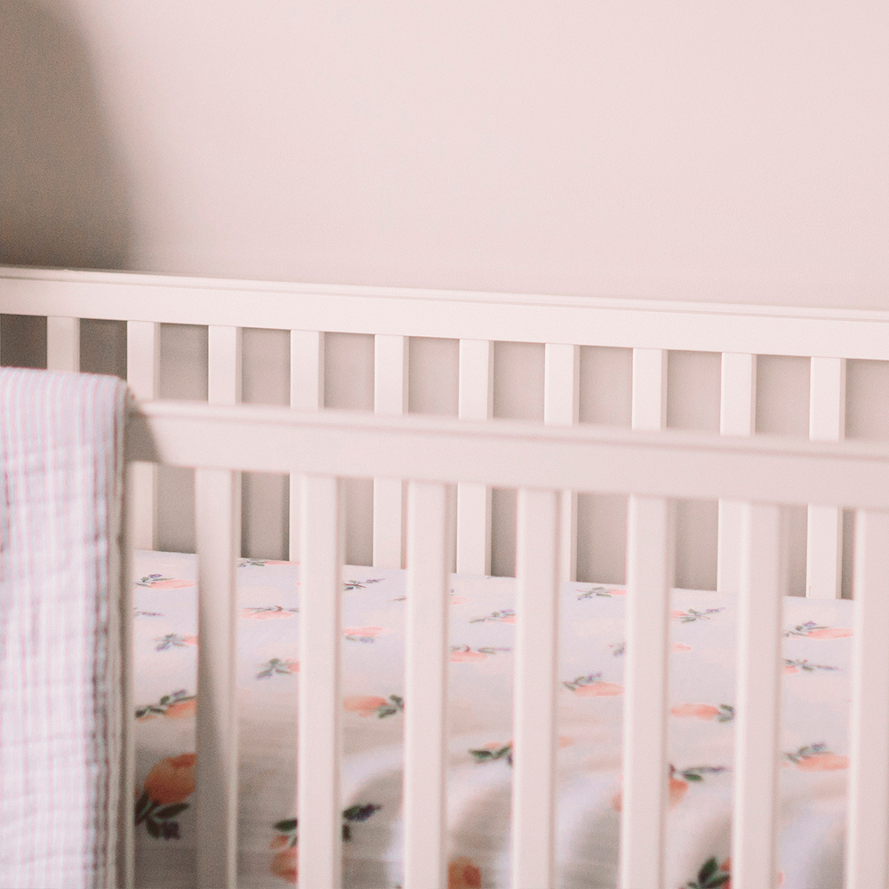Muslin Fitted Cot Sheet - Florals