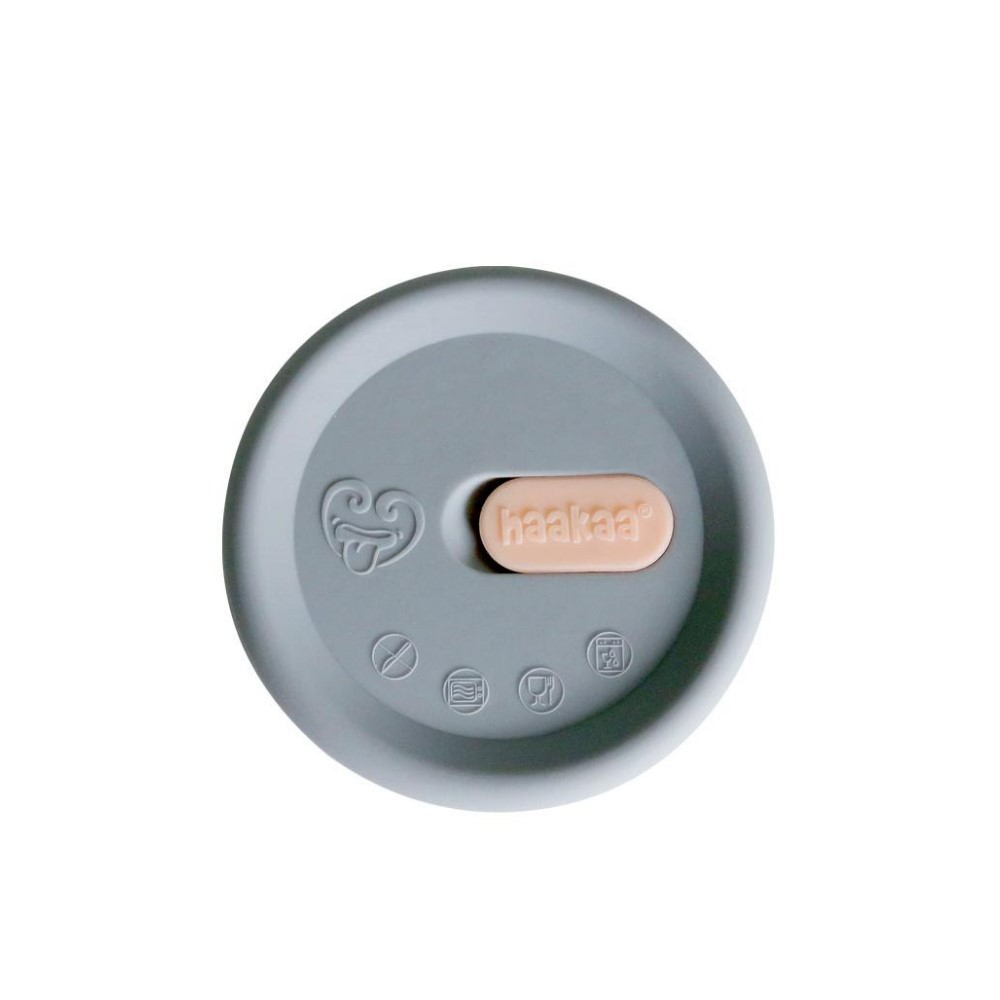 LID ONLY - Silicone Cap for Breast Pump - Grey